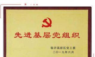 建党节丨沂星公司党支部和个人获高新区党工委表彰